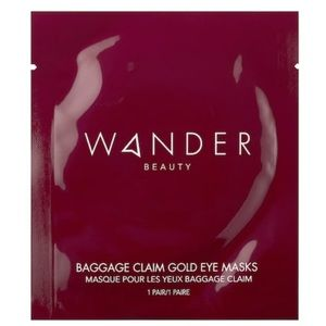 2 Wander Beauty Baggage Claim Gold Eye Masks